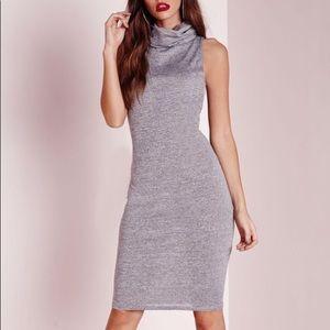 Missguided Roll Neck Midi Dress